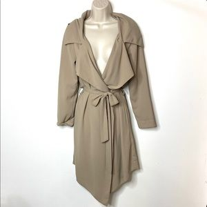 UNIF taupe lightweight open coat XS C8